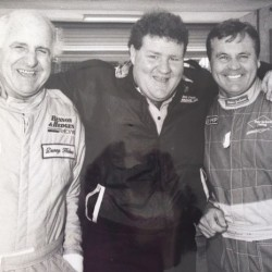 Murray with former F1 world champions Denny Hulme and Alan Jones in 1992