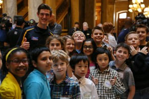 With some local fans at the Indiana Statehouse