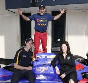 Dave Rutherford (C) is the first of the 'CK Crew' who will crew the PIRTEK Team Murray entry in the TAG Heuer Pit Stop competition at Indy. Matt Brabham (L) and Taya Kyle