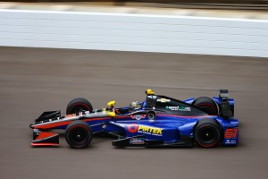 Matt Brabham during his first practice on the Indianapolis Motor Speedway