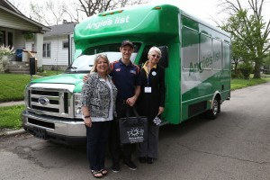 The Meals on Wheels Volunteers and Matt Brabham out in the community