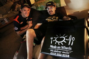Matt Brabham delivered Meals on Wheels and some tickets to Indy fan, Shorty