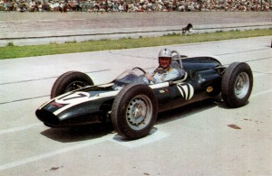 Sir Jack Brabham in his debut at Indianapolis