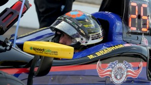 Matt Brabham completed more laps than anyone at Indy during Wednesday practice