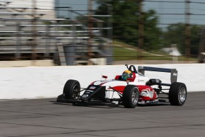 Matt Brabham gave the new for 2017 USF2000 car its first oval run
