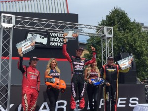 Top step of the podium for Matt Brabham - a good feeling in Toronto