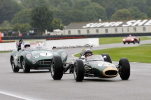 Sir Jackie Stewart and John Surtees lead the parade honoring Sir Jack Brabham