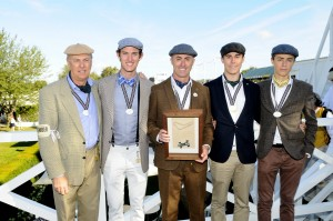 Geoff, Matt, David, Sam and Finn Brabham at the Goodwood Revival. Pic - SimonHildrew.com